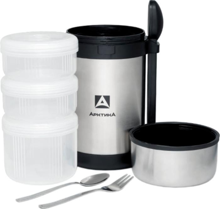 Термос с тремя контейнерами Арктика 403-1500 для еды - удобная форма