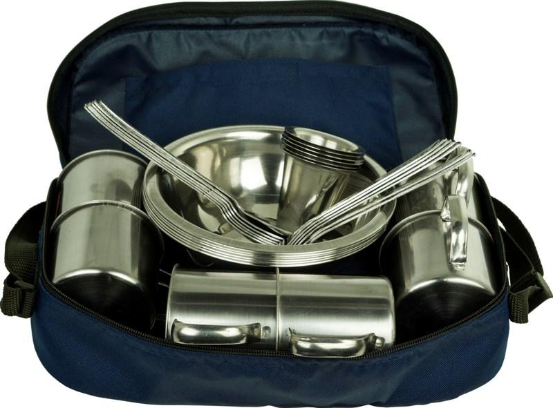 Набор посуды на 6 персон в сумке - столовые приборы и посуда