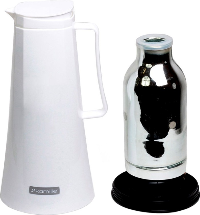 Термос-кувшин Kamille 1 литр для чая - стеклянная колба