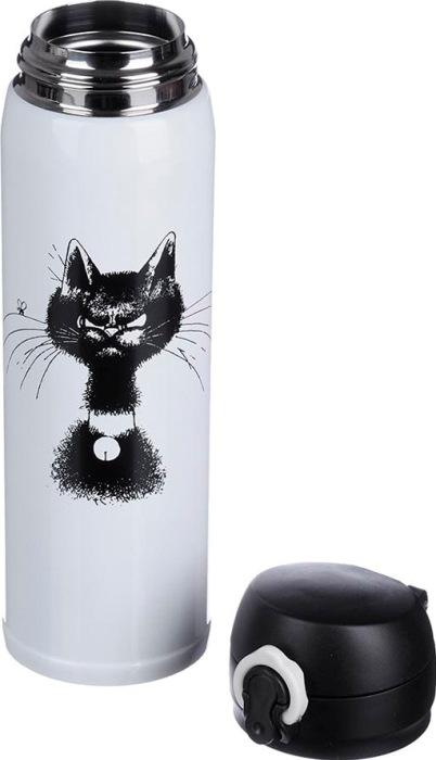 Термокружка для напитков Satoshi Cat 450 мл - стальное горло