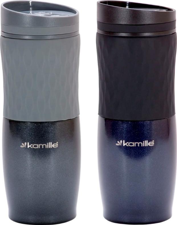 Термокружка с кнопкой Kamille dark 500 мл - варианты цвета