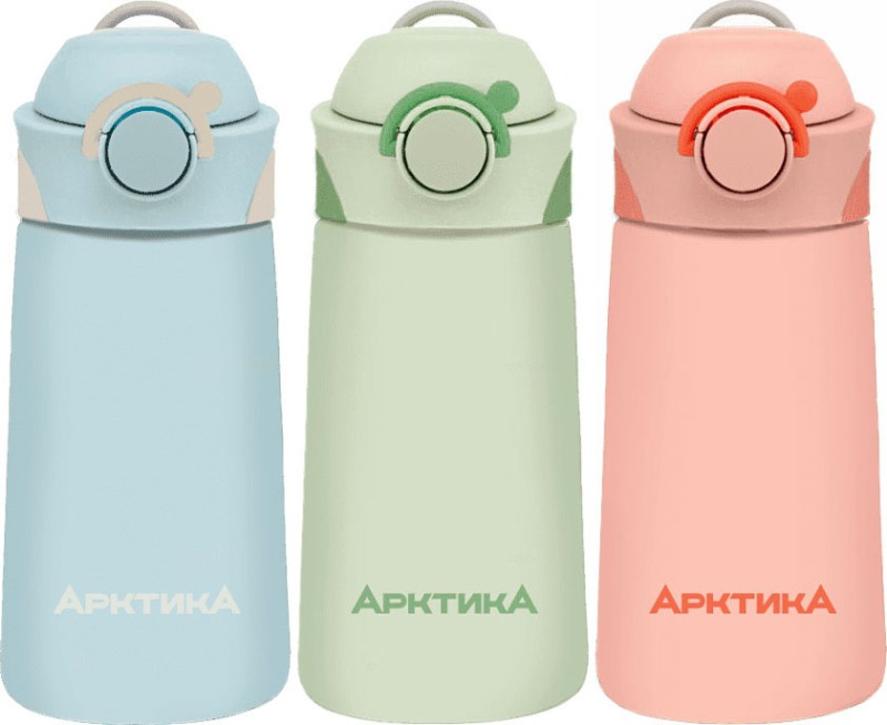 Питьевой детский термос Арктика 711 серии с трубочкой 390 мл - варианты цвета