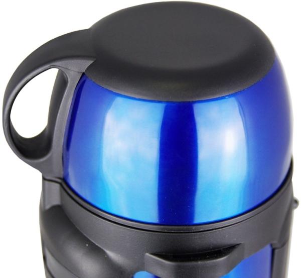 Термос Biostal NGC с кнопкой - крышка-чашка с ручкой