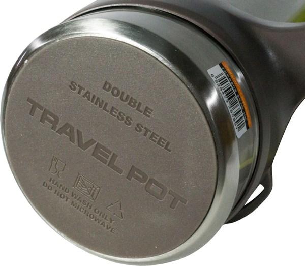 Термос из нержавеющей стали Steel Travel для напитков - прорезиненное дно