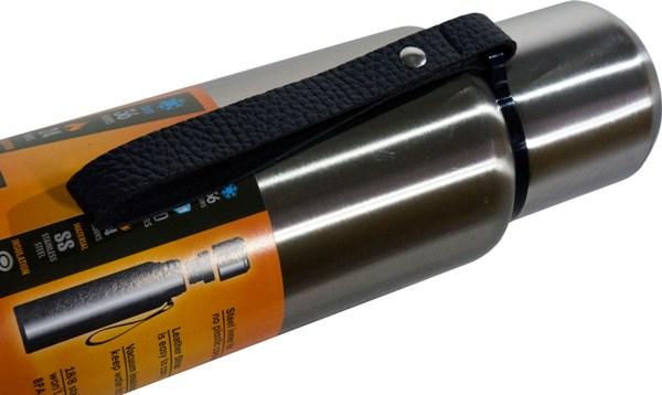 Термос-фляга с ситом для напитков Steel Meigecup 750 мл - ремешок-ручка