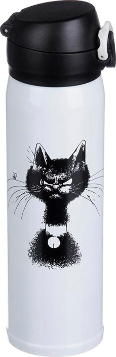 Термокружка для напитков Satoshi Cat 450 мл - удобная форма