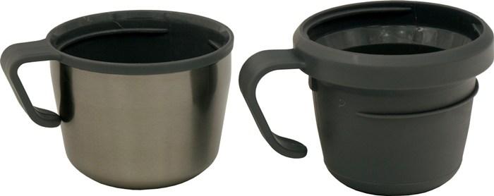 Термос из нержавеющей стали Steel Travel 1200 мл для напитков - крышка и чашка