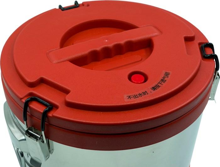 Термос профессиональный из нержавеющей стали Steel с краном для напитков - крышка с кнопкой