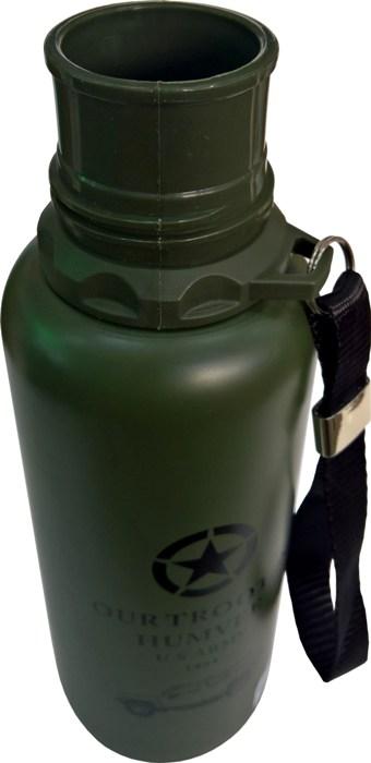 Термос для напитков Steel Military Vacuum Bottle 500 мл - узкое горло