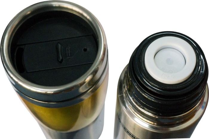 Подарочный набор Rosenberg термос 500 мл и термостакан 450 мл - пробка с кнопкой