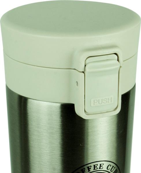 Термокружка Coffee Cup с поилкой 400 мл - крышка с кнопкой