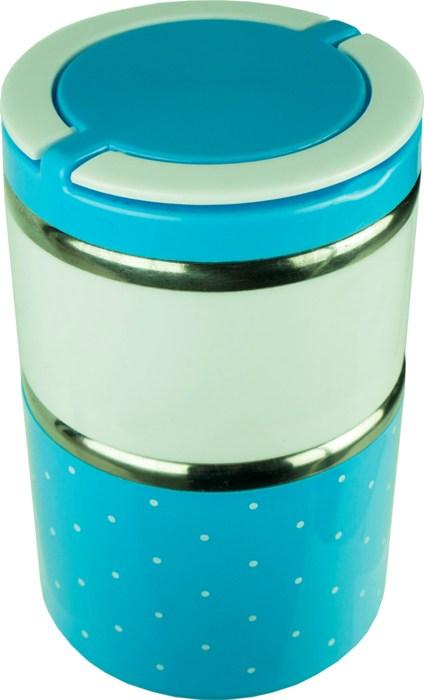 Двухсекционный детский ланчбокс 1 литр - удобная форма
