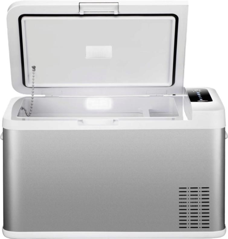 Компрессорный автомобильный холодильник Alpicool MK25 - крышка на петлях
