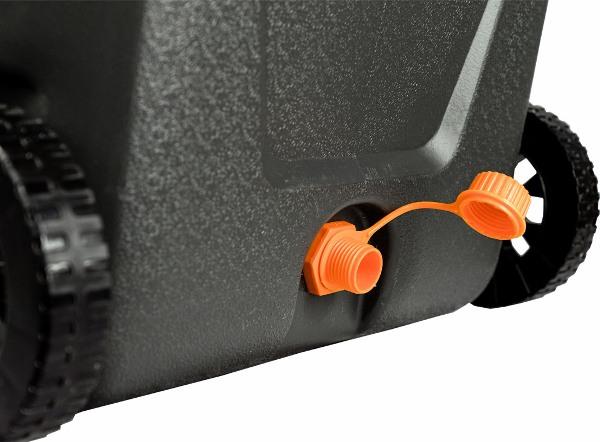 Термоконтейнер Биосталь CB-G-K 45 и 80 литров для продуктов - колёсики и сливная горловина