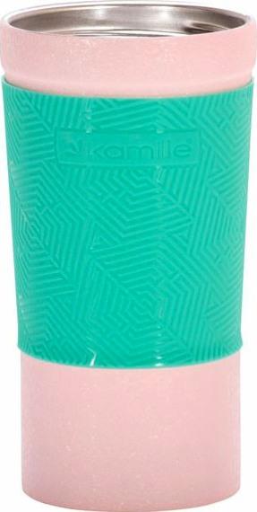 Термостакан Kamille Textured с силиконовой вставкой 380 мл - широкое горло