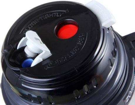 Термос с тефлоновым покрытием Zojirushi SF-CC15-AH из нержавеющей стали - пробка с кнопкой