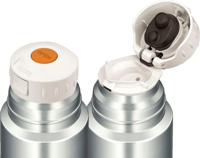 Термос питьевой Thermos FFM 350 мл с поилкой - механизм откидной пробки с кнопкой