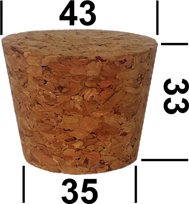 Корковая пробка для стеклянного термоса 3,2 литра
