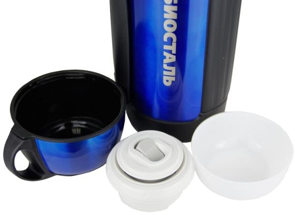 Термос Biostal NGC с кнопкой - вторая чашка, пробка и крышка
