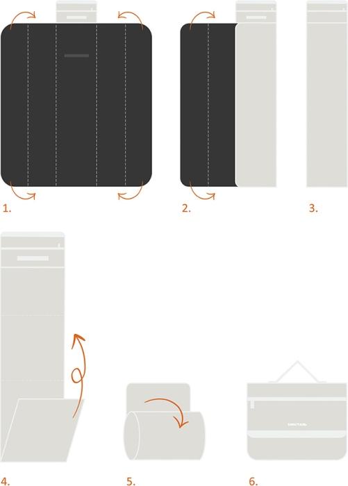 Двухсторонний плед для отдыха на природе Биосталь TK-022B - инструкция для складывания